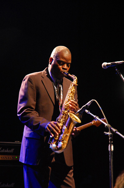 Maceo Parker funking it up - picture by Mark