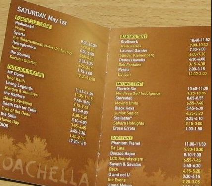 day1 Concert Review: Coachella, May 1st 2nd, 2004 [Radiohead, Pixies, The Cure, Kraftwerk, Flaming Lips]