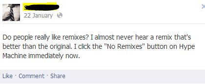 fb post2 5 Remixes I like More than the original